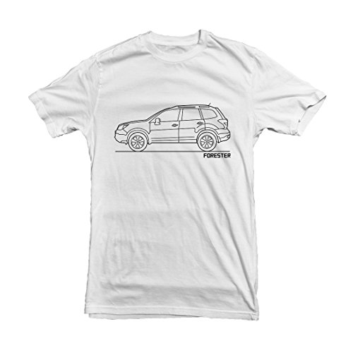 subaru-forester-car-outline-mens-t-shirt-size-m-white