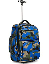 HollyHOME 20 inches Large Storage Wheeled Rolling Backpack Multifunction  Waterproof Travel Luggage for Boys Travelling School Books… 7fcebe5f79