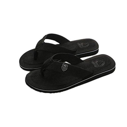Chanclas y Sandalias de Playa para Hombre, QinMM Zapatos de Baño Verano de Vestir (43, Negro)