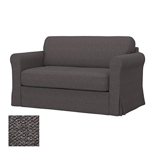 Soferia - IKEA HAGALUND Funda para sofá Cama, Nordic Dark Brown