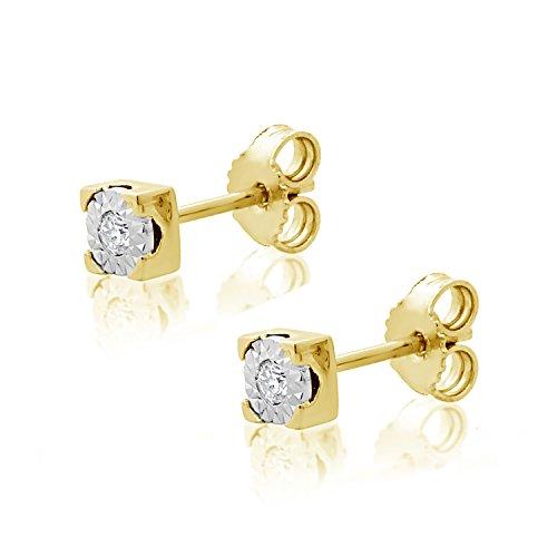 Orecchini Donna Oro e Diamanti in Oro Giallo 9kt 375 Diamanti 0.03Carati Clicca su MILLE AMORI blu e scopri tutte le nostre collezioni