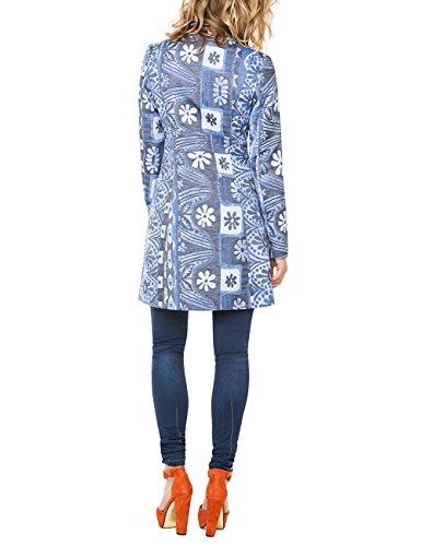Desigual Damen Jacke Chaq_magic Blue Coat Blau - Bleu (Ducados)