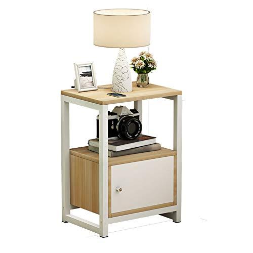 Comodino Larghezza 35 Cm.Bedside Table Arredamento Europeo Comodino Semplice Armadietto Multifunzionale In Legno Con Armadietto Laterale Facile Da Pulire Bianco Caldo