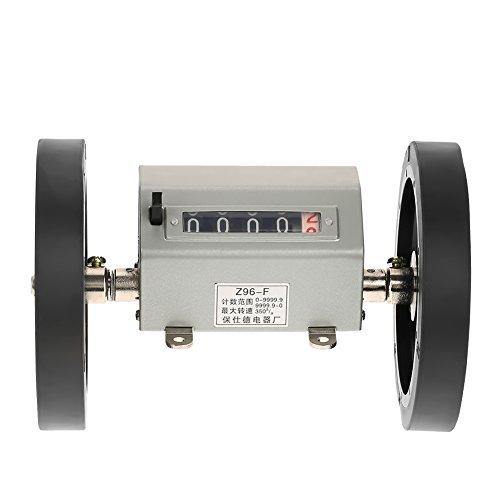 Zähler Rolling Wheel Digits 0-9999.9 Längenzähler Messlänge, max. Geschwindigkeit 350 U/min Grau Reset -