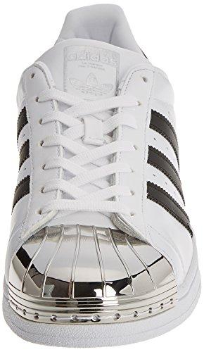 Femme Chaussures Toe Adidas Baskets Blanc Superstar Métal Hnaq0Ig