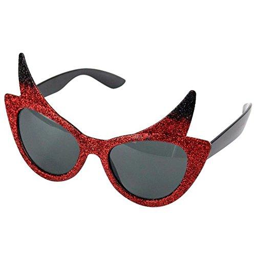 Feste Feiern Halloweendeko I 1x Brille Sonnenbrille Teufel -