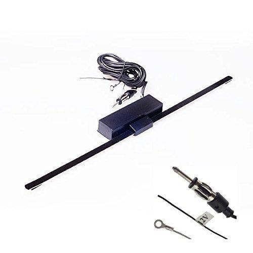 Audioproject A114 Aktive Auto Scheiben-Klebe-Antenne AM / FM 12V für Autoradio Innen selbstklebend