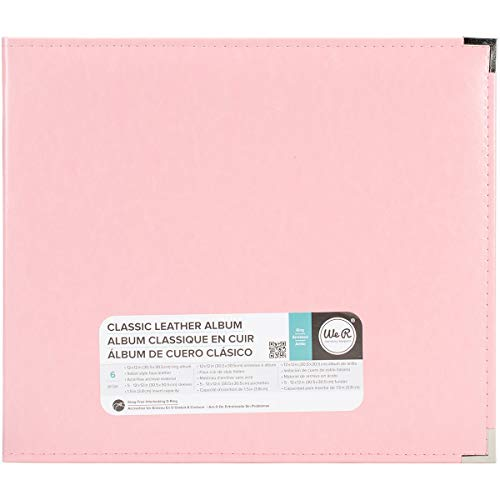 We R Memory Keepers Classic Leder 3 Ring Album 12 Zoll x 12 Zoll Pretty Pink -