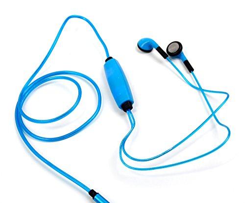 DURAGADGET In-Ear Stereo Kopfhörer Blau mit LED für das Amazon Fire HD 10-Tablet 10,1 Zoll mit Alexa Hands-Free 2017 | Fire HD 8-Tablet 7. Generation 2017 und Fire 7-Tablet 7 Zoll 2017 (Kinder-kopfhörer Für Amazon Kindle Fire)