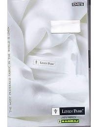 Ramraj Men's Linen Unstitched Shirt Fabric 1.60 m (White)