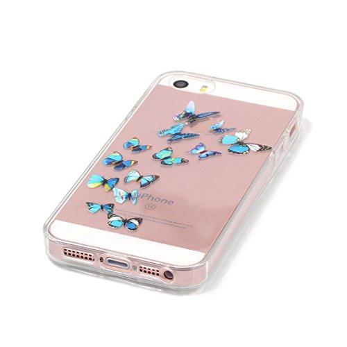 YAKING® Apple iPhone 5/5S/SE Coque Silicone TPU Case Cover Gel Étui Housse pour Apple iPhone 5/5S/SE P-5