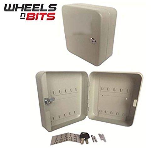Preisvergleich Produktbild NEU WNB Schlüsseltresor Sperren Im Feld Inklusive 20 Haken Creme Energie Beschichtet Schrank Kiste Ständer