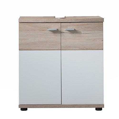 Trendteam 1316-301-9 Mobile sottolavabo 'San Remo', 60 x 65 x 35 cm, Bianco opaco