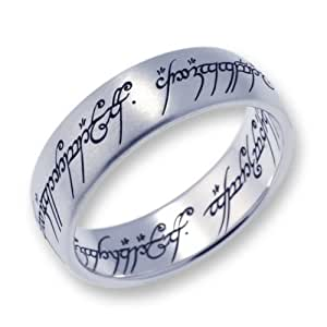 Lord of the Rings Stainless Steel Matte The one Ring - Size K