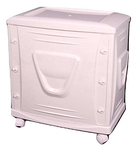 Vachann Ups - Vg Plastic Cabinet - 60 X 18 X 102 Cm, White, Pack Of 2