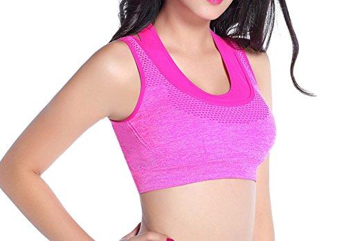 Wakai JCC 3pack Femme Sport Soutien-gorge Gilet Sous-vêtements Yoga Sans Couture Créatif Fitness Course à Pied Orange