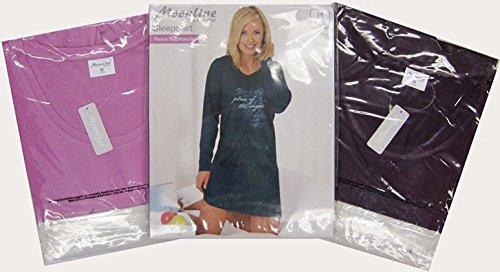 Moonline nightwear - Chemise de nuit - Manches Longues - Femme Rose