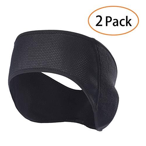Qinglonglin Fleece-Ohrenwärmer Stirnband - 2er-Pack Winter-Ohrenschützer Skimaske für Damen und Herren, Herren, QL-KU-Y-HH, QL-KU-Y-HH, Einheitsgröße