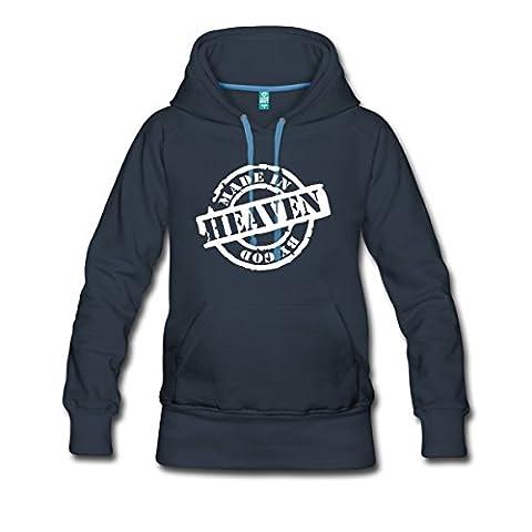 Made In Heaven By God Gemacht Von Gott Frauen Premium Hoodie von Spreadshirt®, S, Navy