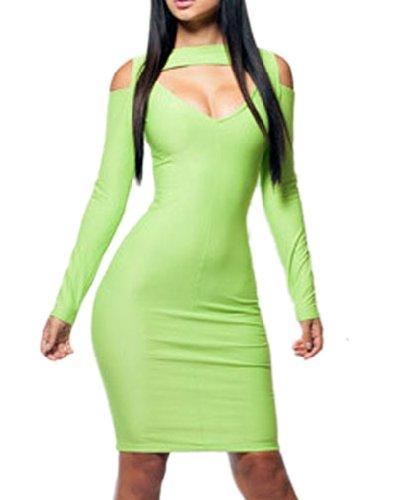 Pinkyee Damen Strandkleid Mehrfarbig