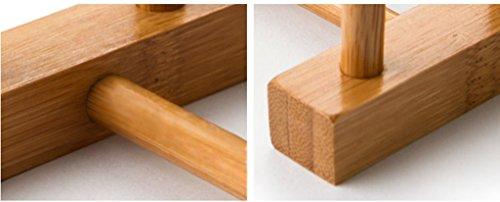 Estante, sostenedor de la taza Plato Bastidores Bambú Anti-corrosión 27 * 12 * 12Cm durable