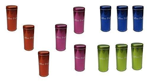 James Premium Paddose für 18 Kaffeepads, neues Design, Dose, Pad, 12er Pack