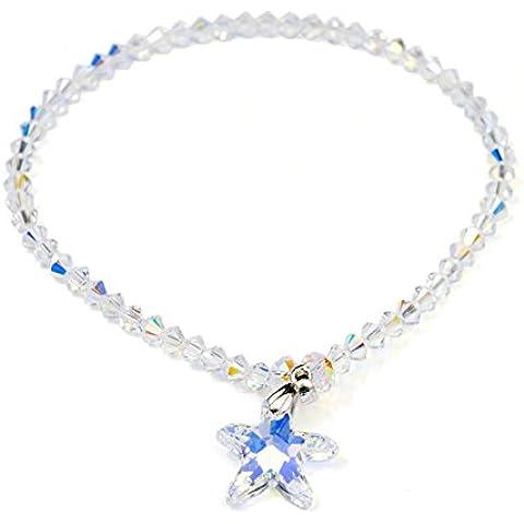 ZWX Signore temperamento Austria cristallo cavigliera/ cavigliera di gioielli in argento moda