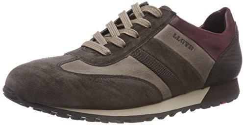 LLOYD Herren Agon Sneaker, Grau (Dove Grey/Graphit/Chocolate/Bordo 4), 44 EU