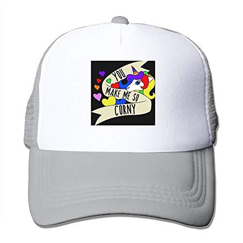 You Make Me So Corny Classic Adjustable Mesh Trucker Hat Unisex Adult Baseball  Cap d88098975d2d