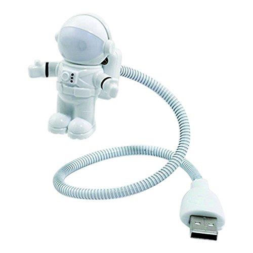 Luce bianca di lettura del taccuino del computer portatile del computer portatile della luce notturna del tubo dell'astronauta LED dell'astronauta dell'astronauta bianca
