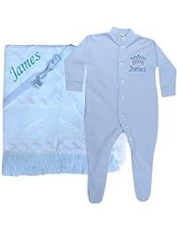 TeddyTs Personalised Flamingo Name Baby Sleepsuit