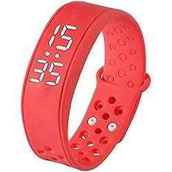 Smart Watch,Fortan W6 Sports Smart Wearable Wristband Watch Bracelet_Red