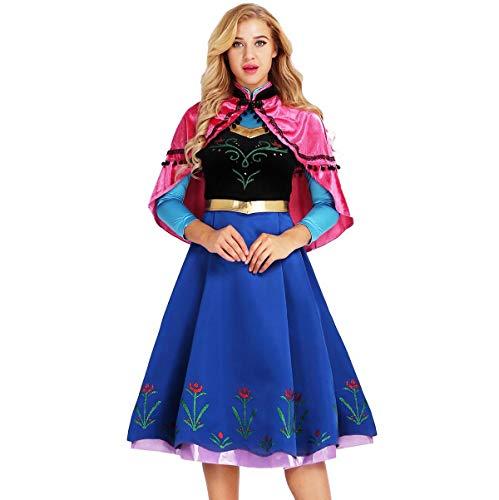 Alvivi Damen Prinzessin Kleider Frauen Verrücktes Kleid Set -