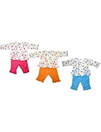 Mahi Fashion Baby Newborn Boys Girls Pajama Suit Combo of 3 (Made in Thailand) (3-6 months)