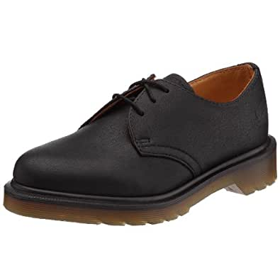 Dr Martens 1461 Pw Harvey, Chaussures de ville mixte adulte - Noir (Noir Harvey), 44 EU (9.5 UK)