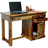 Rootwood Wooden Three Drawer Storage Console Computer Table for Home