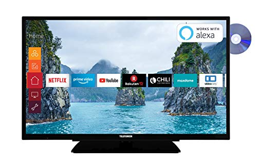Telefunken XF32G519D 81 cm (32 Zoll) Fernseher (Full HD, Triple Tuner, Smart TV, Prime Video, DVD-Player integriert, Bluetooth) (Digital-tv-tuner-dvd)