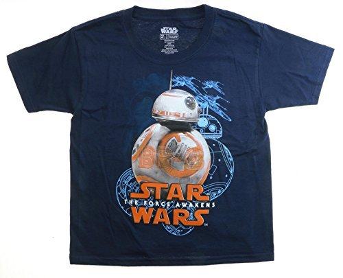 Star Wars Die Kraft weckt BB-8 Jugend Navy Blue T-Shirt, klein (6/7) (Wars-jugend-t-shirt Star)