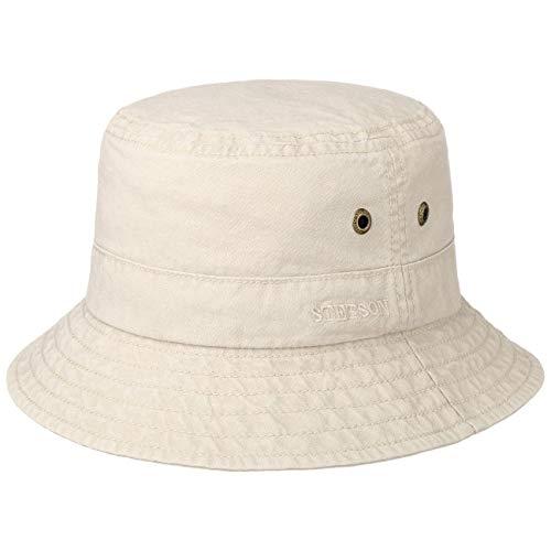 Stetson Delave Cappello Cotone Donna/Uomo - Estivo da Pescatore Vacanza Primavera/Estate - XL (60-61 cm) Beige