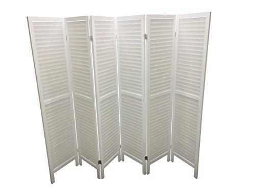 White 6 Panel Wooden Slat Room D...
