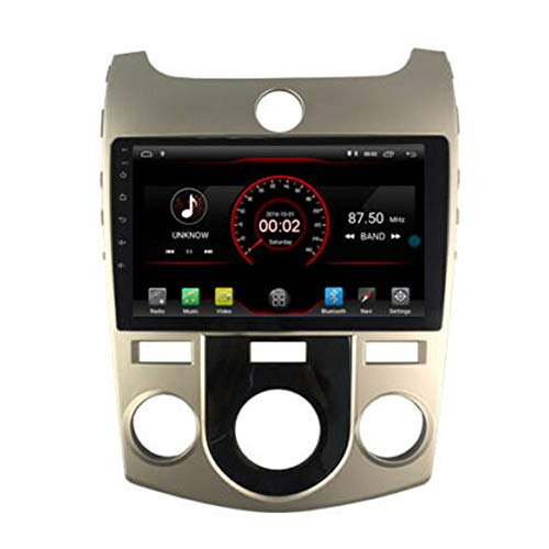 Autosion Android 8.1 Auto-DVD-Player, GPS, Stereo, Navi-Radio, Multimedia, WiFi für Kia Cerato Koup Forte 2008 2009 2010 2011 2012 2013, manuelle Klimaanlage Version Lenkradsteuerung (Forte 2011 Kia Koup)
