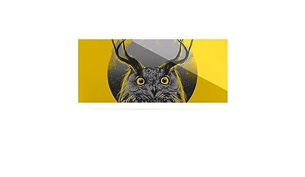 24 x 36 Kess InHouse BarmalisiRTB Majesty Yellow Owl Luxe Rectangle Panel