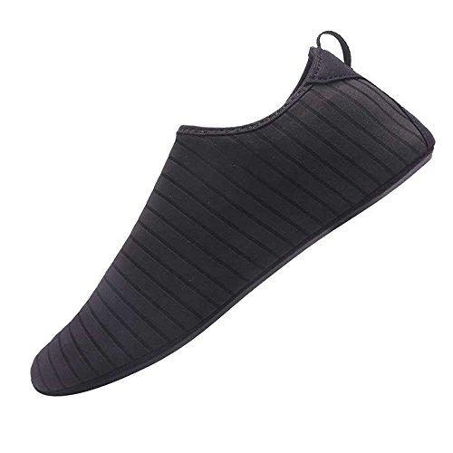 JACKSHIBO Herren Damen Barfuß Wasser Schuhe Unisex Aqua Shoes für Strand Schwimmen Surf...