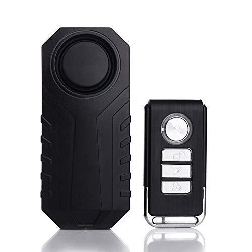 TooCute Fahrrad Alarm, 113dB Wireless Motorrad/Fahrrad / Alarmanlage Radfahren Warnung Bell Wasserdichte Sicherheit Radfahren Fahrrad Alarm (Schwarz)