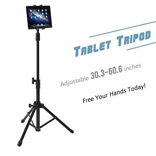 Soporte de trípode profesional para tabletas y iPad, altura ajustable y rotación de 360°, incluye bolsa de transporte, perfecto para iPad/Mini de 7'-10', Samsung Galaxy Tab, Smartphones, de la marca Coolplay