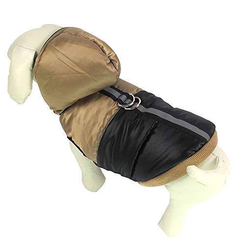 GAONAH Haustier-Hundekleidung-Nette Weiche Mit Kapuze Parka-Mantel-Haustier-Winter-warme Jacken-Wasserdichte Kleidung,Khaki-XL -