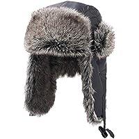 Zxcvb Gorra de algodón Invierno de los Hombres Grueso Caliente Cálido Frío Lei Feng Sombrero Sombrero de montañismo a Prueba de Viento al Aire Libre Noreste Orejeras Bicicleta