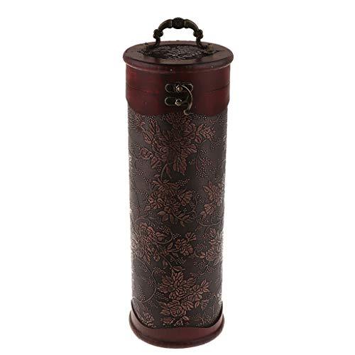 F Fityle Antike Weinbox Weinflaschen Holzkiste Holzgeschenkbox Aufbewahrung Box für Wein - 1 Flasche A -