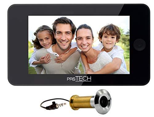 prsTECH® DoorCAM DC2 PLUS Wide Screen, Digitaler-Türspion 4,3 Zoll LCD Display für Türstärken von 38-110mm