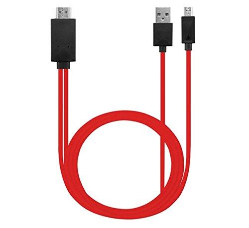 HDMI Cable Micro USB 11 Pin a HDMI HDTV adaptador para Samsung Galaxy nota 3 Nota 2 S5 S4 s3 línea de vídeo AV conector Rojo